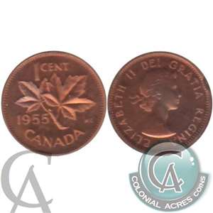 1955 Canada 1-cent Proof Like