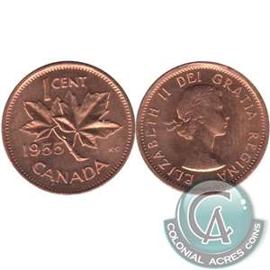 1955 Canada 1-cent Choice Brilliant Uncirculated (MS-64)