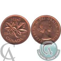 1955 Canada 1-cent Brilliant Uncirculated (MS-63)