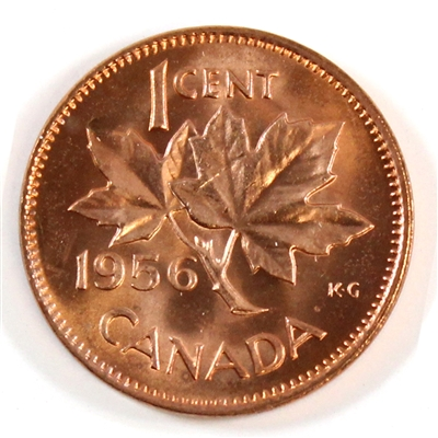 1956 Canada 1-cent Choice Brilliant Uncirculated (MS-64)
