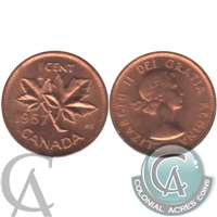 1957 Canada 1-cent Brilliant Uncirculated (MS-63)