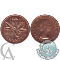 1958 Canada 1-cent Brilliant Uncirculated (MS-63)