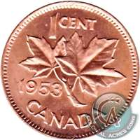 1953 NSS Canada 1-cent Brilliant Uncirculated (MS-63)