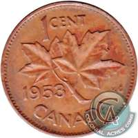 1953 SS Canada 1-cent Very Fine (VF-20)