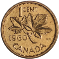 1960 Canada 1-cent Brilliant Uncirculated (MS-63)