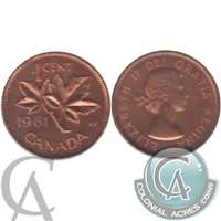1961 Canada 1-cent Proof Like