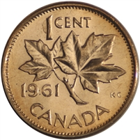 1961 Canada 1-cent Brilliant Uncirculated (MS-63)