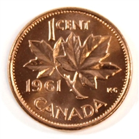 1961 Canada 1-cent Choice Brilliant Uncirculated (MS-64)