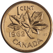1962 Canada 1-cent Brilliant Uncirculated (MS-63)