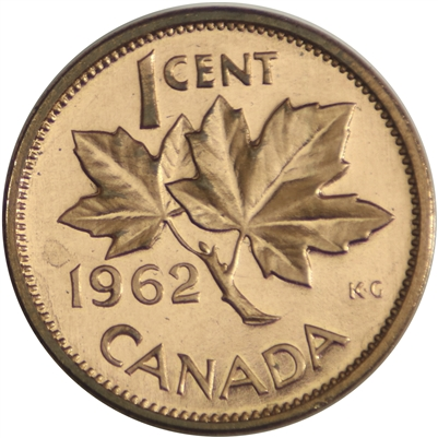 1962 Canada 1-cent Proof Like
