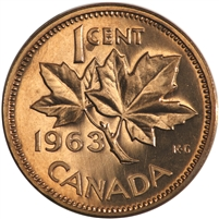 1963 Canada 1-cent Proof Like