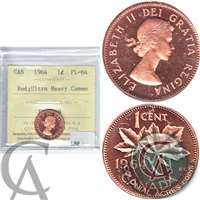 1964 Canada 1-cent ICCS Certified PL-64 Red Ultra Heavy Cameo