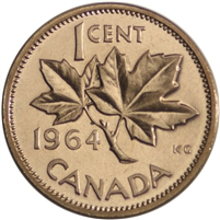 1964 Canada 1-cent Proof Like