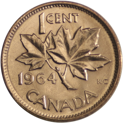 1964 Canada 1-cent Brilliant Uncirculated (MS-63)