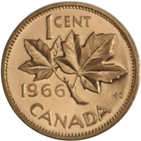 1966 Canada 1-cent Proof Like
