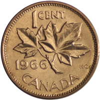 1966 Canada 1-cent Brilliant Uncirculated (MS-63)