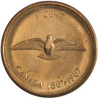 1967 Canada 1-cent Brilliant Uncirculated (MS-63)