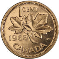 1968 Canada 1-cent Proof Like