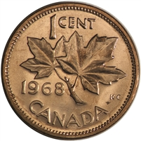 1968 Canada 1-cent Brilliant Uncirculated (MS-63)