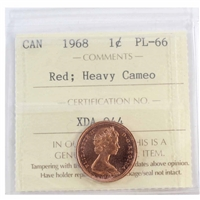 1968 Canada 1-cent ICCS Certified PL-66 Red Heavy Cameo