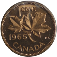 1965 Var. 2 Canada 1-cent Proof Like