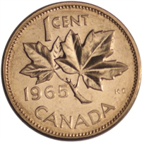 1965 Var. 2 Canada 1-cent Brilliant Uncirculated (MS-63)