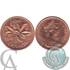 1965 Var. 3 Canada 1-cent Brilliant Uncirculated (MS-63)