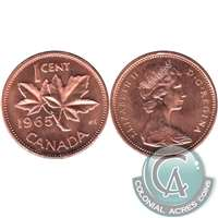 1965 Var. 4 Canada 1-cent Brilliant Uncirculated (MS-63)