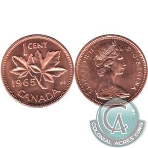 1965 Var. 4 Canada 1-cent Brilliant Uncirculated (MS-63) $