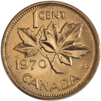 1970 Canada 1-cent Brilliant Uncirculated (MS-63)