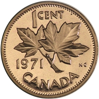 1971 Canada 1-cent Proof Like