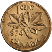 1974 Canada 1-cent Brilliant Uncirculated (MS-63)