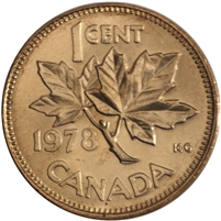 1978 Canada 1-cent Brilliant Uncirculated (MS-63)