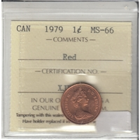 1979 Canada 1-cent ICCS Certified MS-66 Red