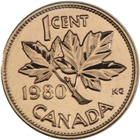 1980 Canada 1-cent Proof Like
