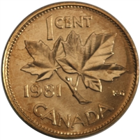 1981 Canada 1-cent Brilliant Uncirculated (MS-63)