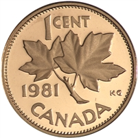 1981 Canada 1-cent Proof