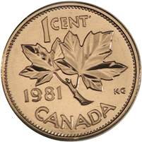 1981 Canada 1-cent Proof Like