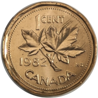 1982 Canada 1-cent Brilliant Uncirculated (MS-63)