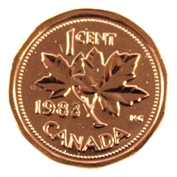 1983 Canada 1-cent Proof Like