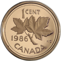 1986 Canada 1-cent Proof
