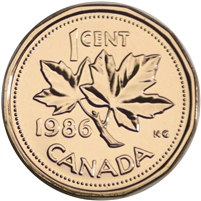 1986 Canada 1-cent Proof Like