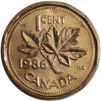 1986 Canada 1-cent Brilliant Uncirculated (MS-63)