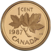 1987 Canada 1-cent Proof