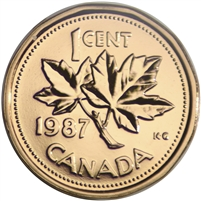 1987 Canada 1-cent Proof Like