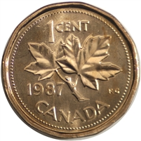 1987 Canada 1-cent Brilliant Uncirculated (MS-63)