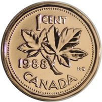 1988 Canada 1-cent Proof Like