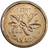 1988 Canada 1-cent Brilliant Uncirculated (MS-63)