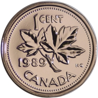 1989 Canada 1-cent Proof Like