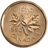 1990 Canada 1-cent Brilliant Uncirculated (MS-63)